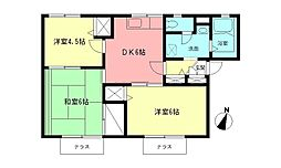 神奈川県海老名市河原口3丁目の賃貸アパートの間取り