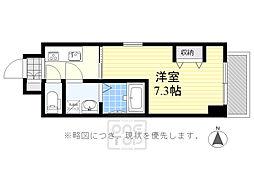 ファーストフィオーレ江坂グレイス 4階1Kの間取り