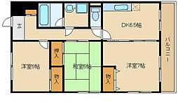 ウエストサイド武庫川[4階]の間取り