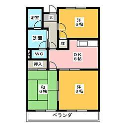 ベラミサイト287[1階]の間取り