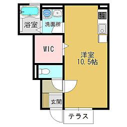 奈良県大和高田市栄町の賃貸アパートの間取り