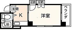河内第1ビル[5階]の間取り