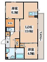 ラミーセント[2階]の間取り