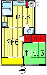 ベルハイム栄町1号棟[2階]の間取り