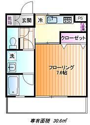 コーポ霞ヶ関[3f号室]の間取り