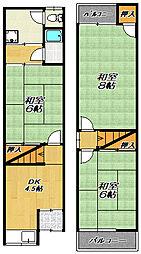 [テラスハウス] 大阪府門真市下馬伏町 の賃貸【大阪府 / 門真市】の間取り