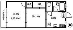 ハウス篠崎7号棟[202号室]の間取り