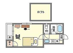 マキシム博多駅前家具・家電付き[1階]の間取り