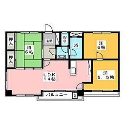 マンションADACHI[4階]の間取り