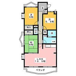 アンシャンテ印場[1階]の間取り