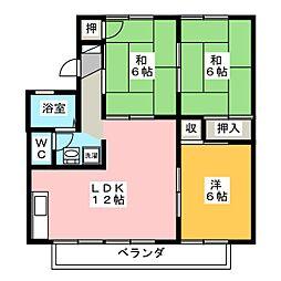 ニューハイツ1993 B棟[2階]の間取り