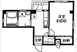 東京都大田区大森南3丁目の賃貸マンションの間取り