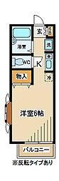東京都府中市宮町3丁目の賃貸アパートの間取り