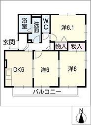 サンエイト梅坪[1階]の間取り