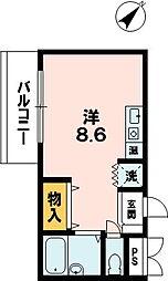 前田マンション[212号室]の間取り