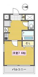 クレアートアドバンス大阪城南[5階]の間取り