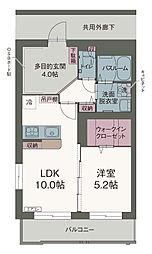リバーサイド桜II 3階1LDKの間取り