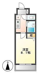 愛知県名古屋市中村区中村町9丁目の賃貸マンションの間取り