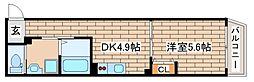JR東海道・山陽本線 神戸駅 徒歩5分の賃貸マンション 1階1DKの間取り