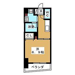 ZOOM横浜桜木町 10階1Kの間取り