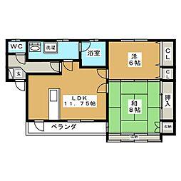 斉藤アパート 9−36[1階]の間取り