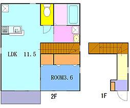 神奈川県横浜市西区西戸部町2丁目の賃貸アパートの間取り