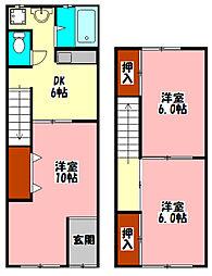 Osaka Metro谷町線 守口駅 徒歩11分の賃貸テラスハウス 1階3DKの間取り