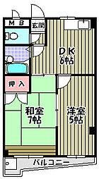 レインボー深井[3階]の間取り