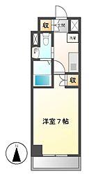 フローライト徳川[3階]の間取り
