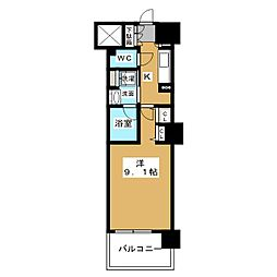 ロイヤルパークスERささしま WEST[11階]の間取り