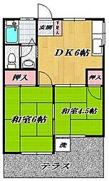 小川ハイツ[102号室号室]の間取り