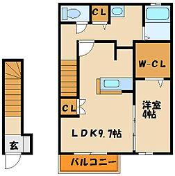 サンガーデン高津橋[2階]の間取り