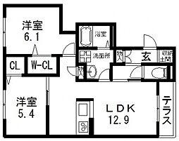 仮)シャーメゾン東大阪日下町PJ[102号室号室]の間取り