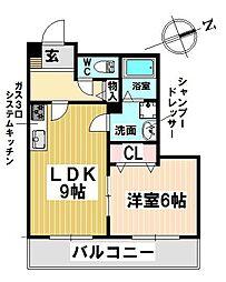 愛知県名古屋市昭和区折戸町1丁目の賃貸マンションの間取り