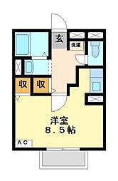 ラ・メールTAKASAGO[1階]の間取り