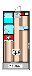 フラワーハイツ3番館[3階]の間取り