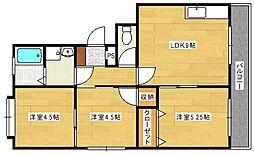新宅第1マンション[206号室]の間取り