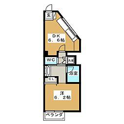 シュワルベ[3階]の間取り