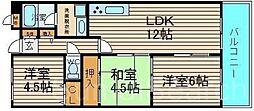 ライブコート泉北[3階]の間取り