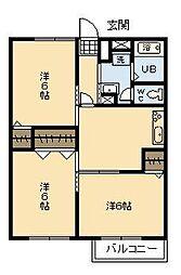 アメニティ本郷[A103号室]の間取り