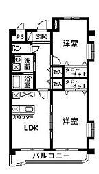 マンションディアコート[2階]の間取り