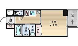 アール大阪グランデ[8階]の間取り