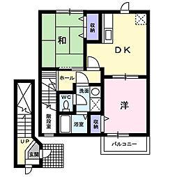 プリーマ ハウス[2階]の間取り