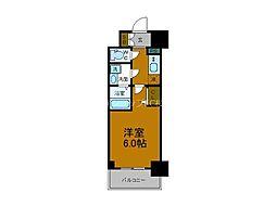 Osaka Metro千日前線 阿波座駅 徒歩9分の賃貸マンション 4階1Kの間取り