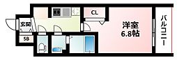 Osaka Metro御堂筋線 東三国駅 徒歩8分の賃貸マンション 3階1Kの間取り