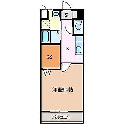 長野県松本市白板1丁目の賃貸アパートの間取り