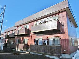 山梨県南アルプス市加賀美の賃貸アパートの外観