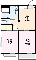 カ−サ鈴木Ⅰ[104号室]の間取り