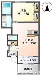 伊賀の郷 五番館[1階]の間取り