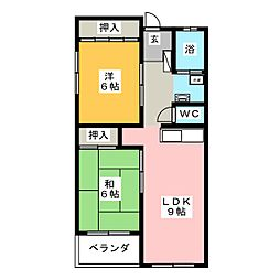 花池コーポラス[2階]の間取り